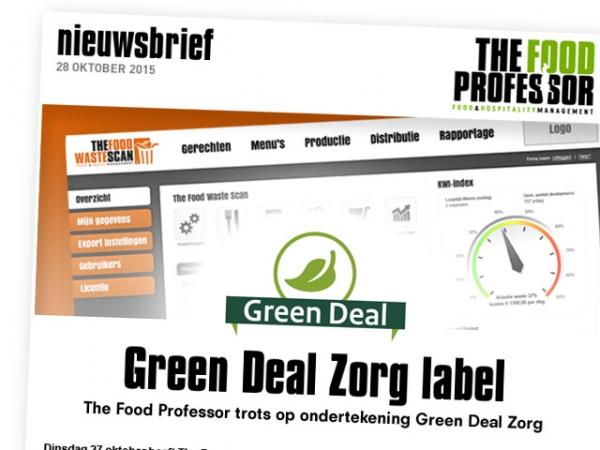 The Food Professor trots op ondertekening Green Deal Zorg